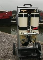 fuel polishing equipment to remove water and diesl bug